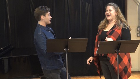 "Bonnie Milligan and Justin Sargent performs ""Fandango"""