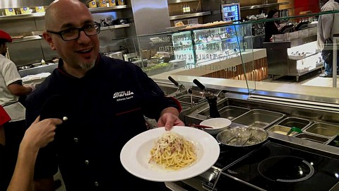 "Barilla Restaurants ""Spaghetti Carbonara"" by Chef  Alfonso Sanna"