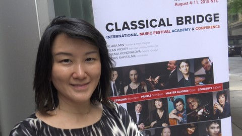 Klara Min, the founder of Classical Bridge 2018