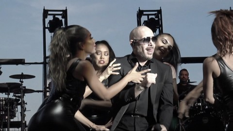 Pitbull at Jersey City July 4th Fireworks Event 2019