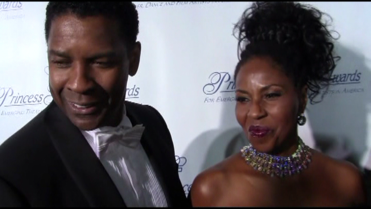 Denzel and Pauletta Washington - Princess Grace Awards 2010