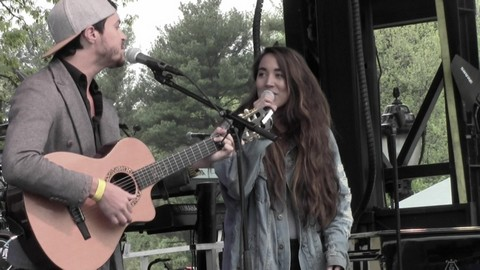 Alex & Sierra at First-Ever GRAMMY Park