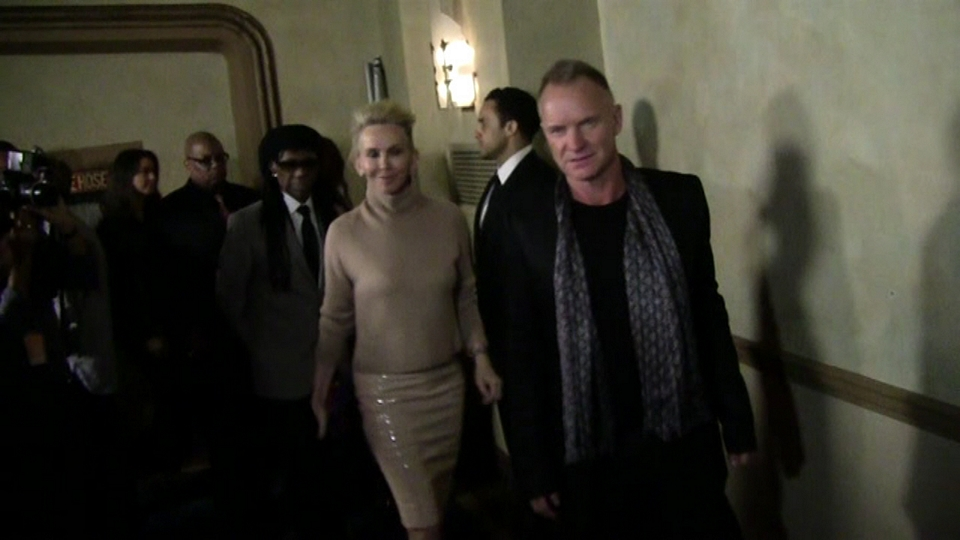 Sting and Trudie Styler - We Are Family HONORS